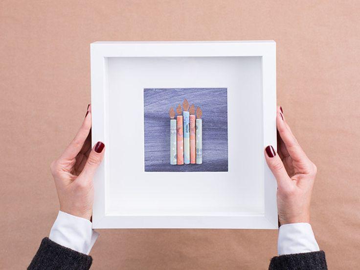 DIY-Anleitung: Geldschenk mit Kerzen selber machen via DaWanda.com