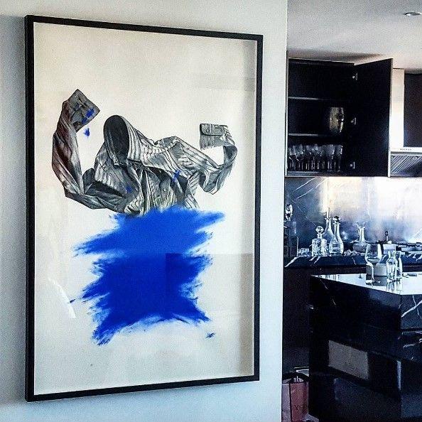 Roman Longginou. Hung by Anthony's Art Hanging