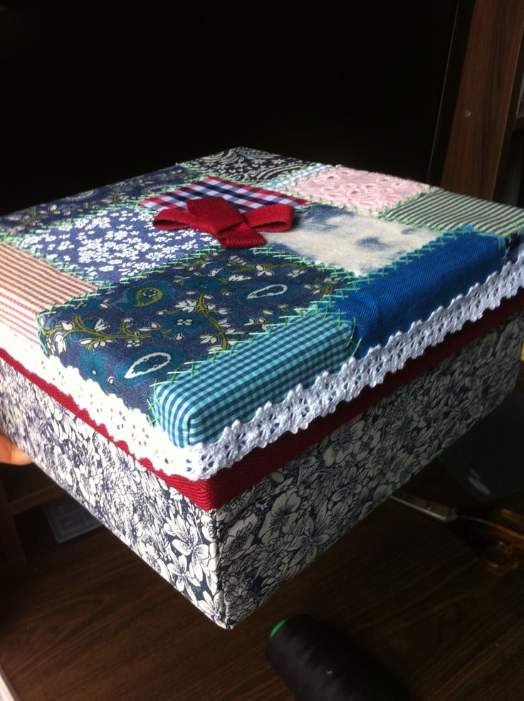 Hand Craft Piece Fabric Box