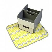 b.box Diaper Caddy Grey