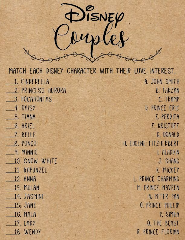 Disney Love Quotes Bridal Shower Games . Disney Br…
