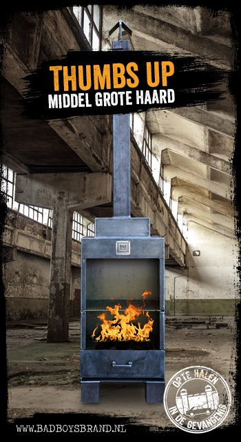 Thumbs Up - Middel grote haard / BBQ - 100% made in mail
