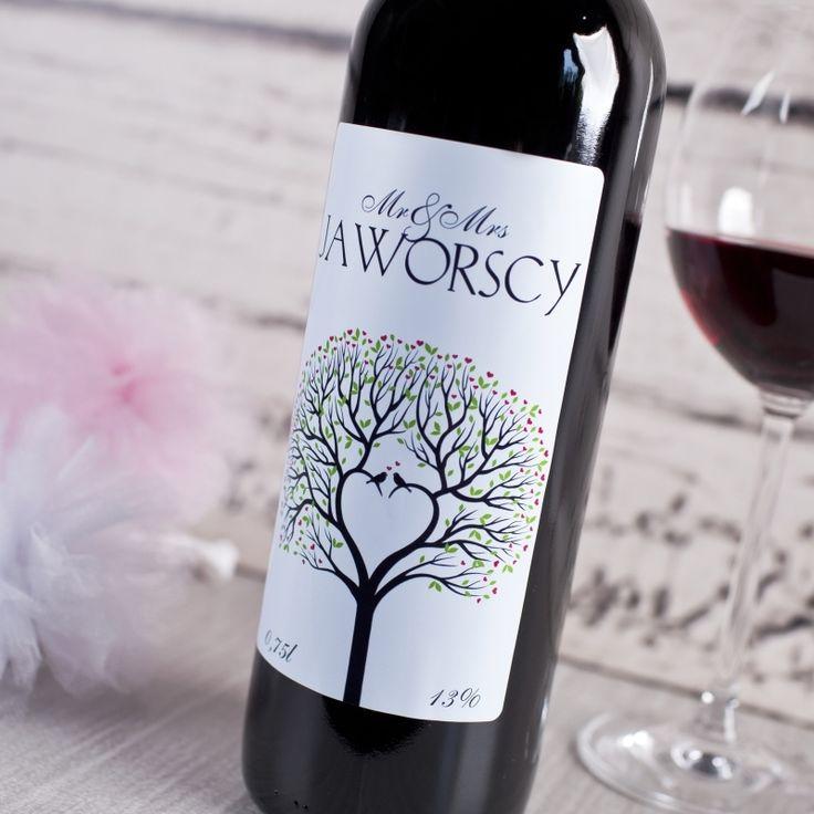 Personalizowane Czerwone Wino NOWOŻEŃCY