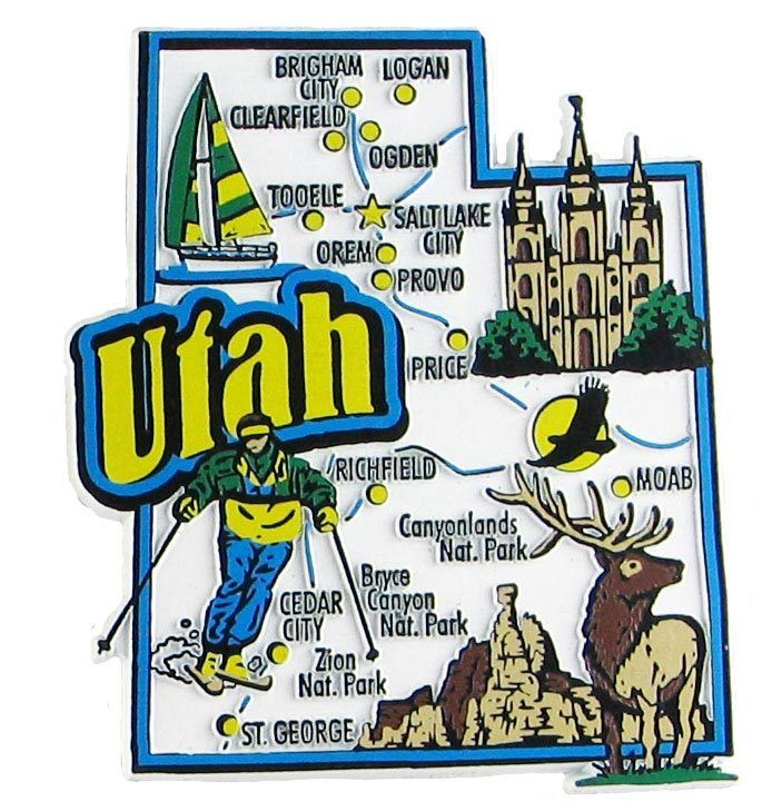 Best Colorful Souvenir Map State Magnets Images On Pinterest - Usa map state