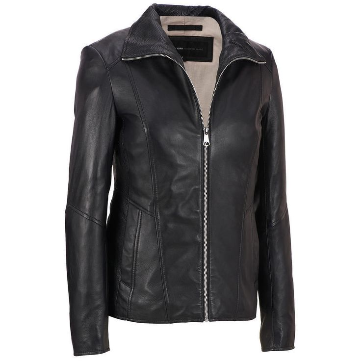 Black Friday Womens Leather Jacket Motorcycle Biker Soft Lambskin Leather Coat #KGNLEATHER #Motorcycle
