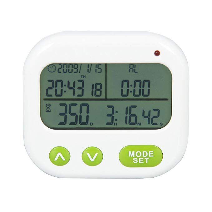 Searon Digital 1999 Days Countdown Timer With Alarm Clock Event Reminder Day Timer Kitchen Laboratory Count Down Cooking Ti Countdown Timer Timer Day Countdown