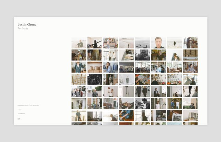 Justin Chung is a photographer based in New York. His clients and projects include J.Crew, Club Monaco, Procter & Gamble, and Cereal Magazine.Throughout the brand identity and website, we strived to encompass Justin's photography, aspirations and honest…