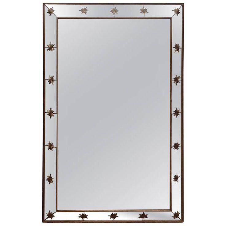 Large vintage mirror with starburst detail unique for Mirror 45 x 60