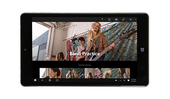 In with the NuVision TM800P610L Signature Edition Tablet ★★★★★ $229.00  8-inch Full HD touchscreen Intel Atom x5-Z8300 2GB memory/32GB SSD Up to 6 hours battery life Windows 10 Pro .  Stay productive and entertained wherever you go with the 8-inch NuVision tablet. It's powered for work with Windows 10 Pro, an Intel Atom processor, 2GB of memory, and speedy 32GB SSD. And when it's time to kick back with a movie, the Full HD IPS touchscreen ensures razor-sharp views from every angle.