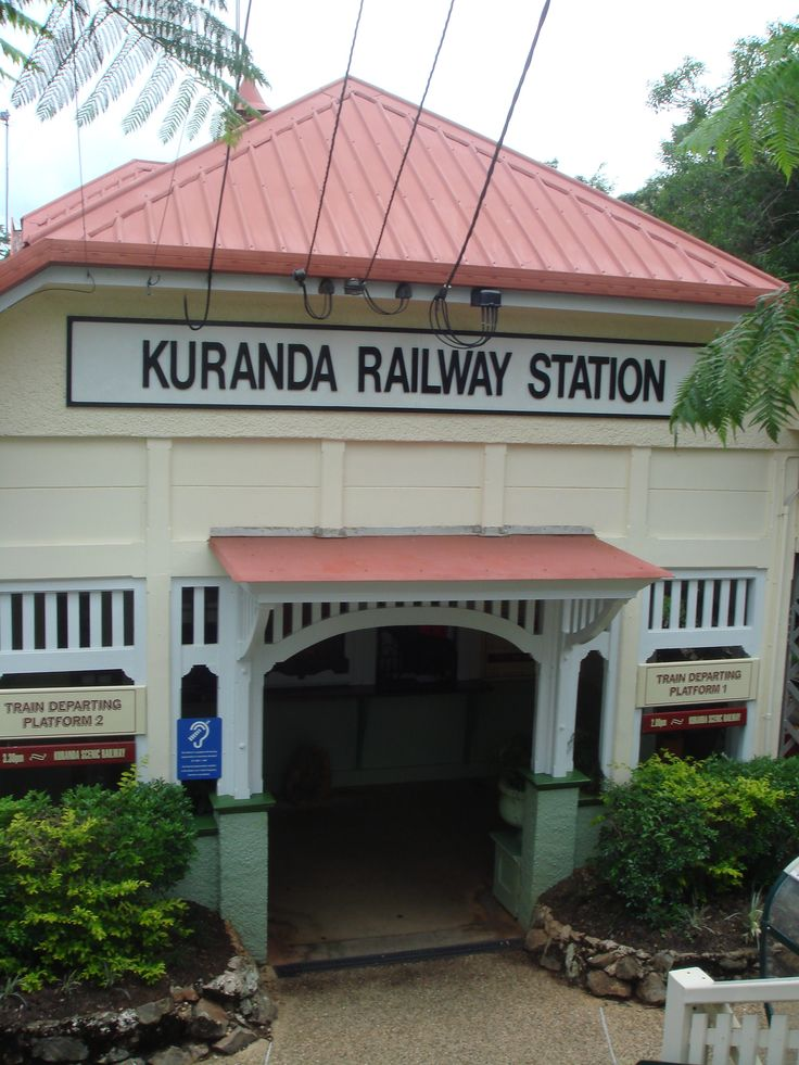 Karunda Station above Cairns - not to be missed - a great train ride and lovely markets - catch the sky rail back.