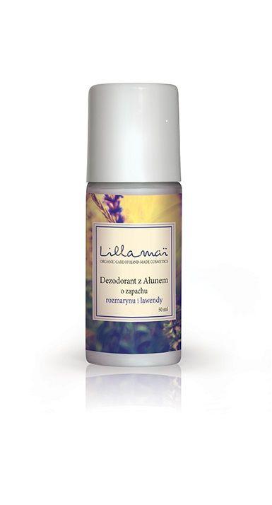 Naturalny dezodorant z ałunem o zapachu rozmarynu i lawendy Lilla Mai. Produkt polski, hand made.