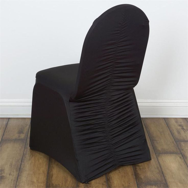 """Black Milan Banquet Chair Covers 