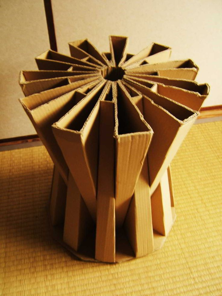 My second instructable, originating from a series of cardboard furniture pieces i am designing for my flat.  Here is my design for a cardboard stool, ...