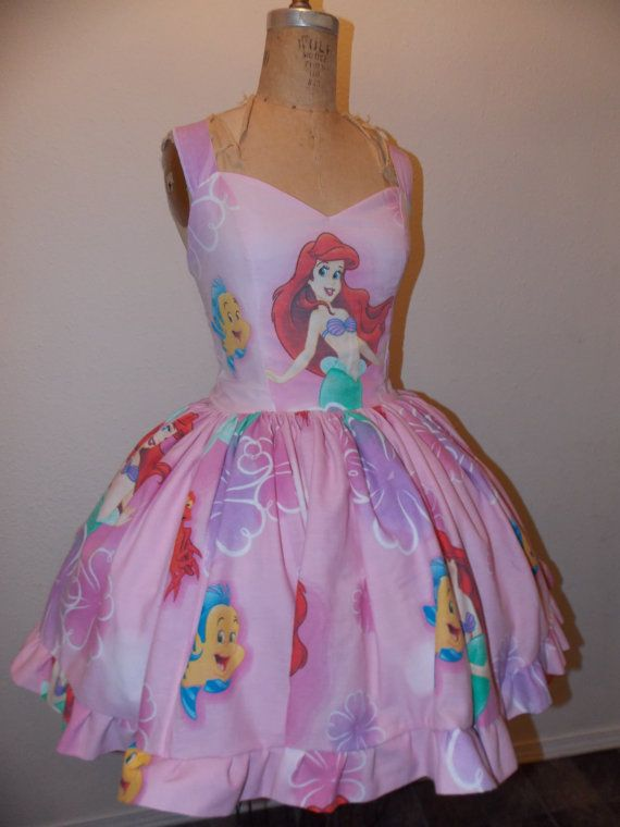 Ariel The Little Mermaid Sweet Heart Ruffled Mini Dress by SweetHeartClothing