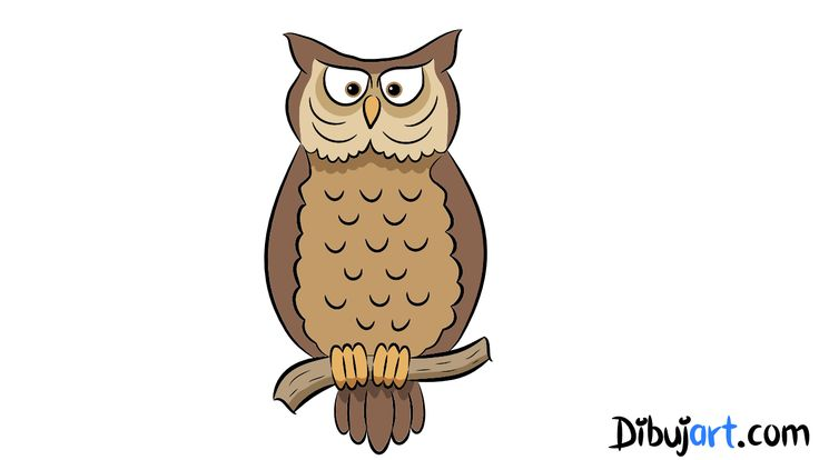 Dibujo de un Buho (clipart) | Como dibujar un Búho  How to draw a Owl Video YouTube: http://youtu.be/FH51N1_C75s