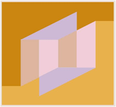 Josef Albers - Never Before (1976). One of a series of three works painted shortly before Albers' death http://rukajgallery.com/project/albers-josef/
