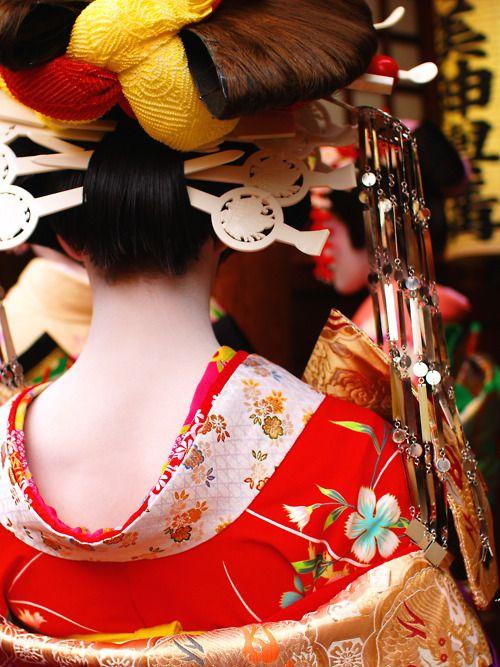 Oiran back shot : photo by M.TANIGUCHI