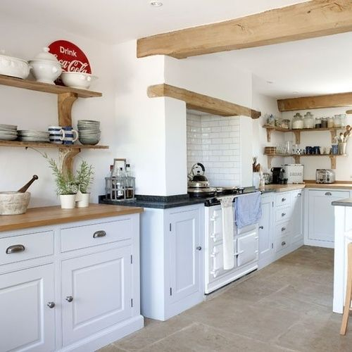 Exposed wood, concrete, cabinet.