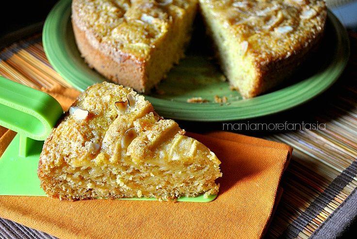 Torta di mele integrale, senza uova, senza burro, con zucchero di canna e tanta frutta che rende la consistenza quasi cremosa. Non vi resta che provarla.
