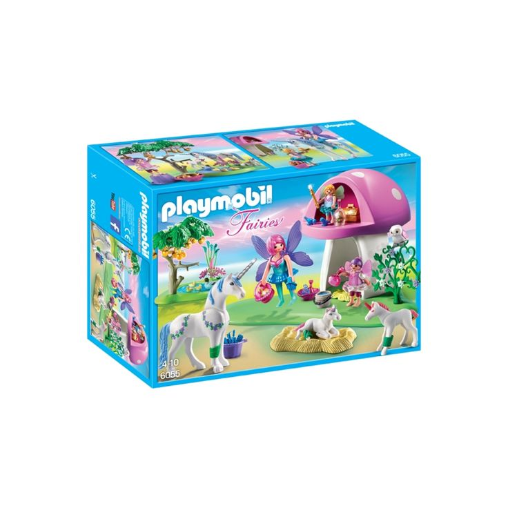 Playmobil Fairies with Toadstool House,