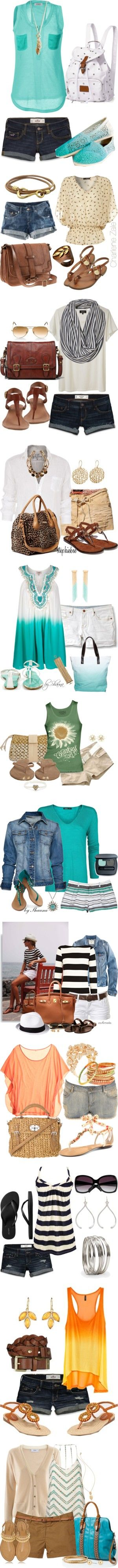 Summer outfit choices that are good for any kind of day!!!!! I hope all days include sunshine!