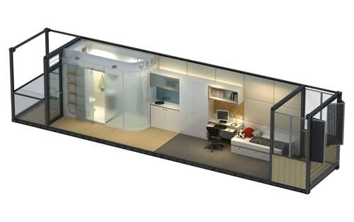 Container house bathroom pod prefabricated house wc in003 for Bathroom containers