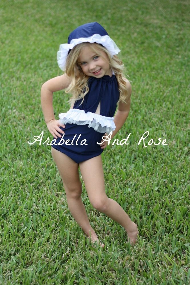 This Item is Available Now. Swimsuit comes with matching bonnet/swimcap. Model Photos Coming Soon. If you have an ongoing order and have already paid postage, please email me at arabellaandrose@hotmail.com and I will refund you the shipping. A refund will be provided if the item is faulty but there are no exchanges or refunds. (Australian Post Only) I send goods via tracked satchel this is not registered and I do not take responsibility for parcels that go missing through Australi...