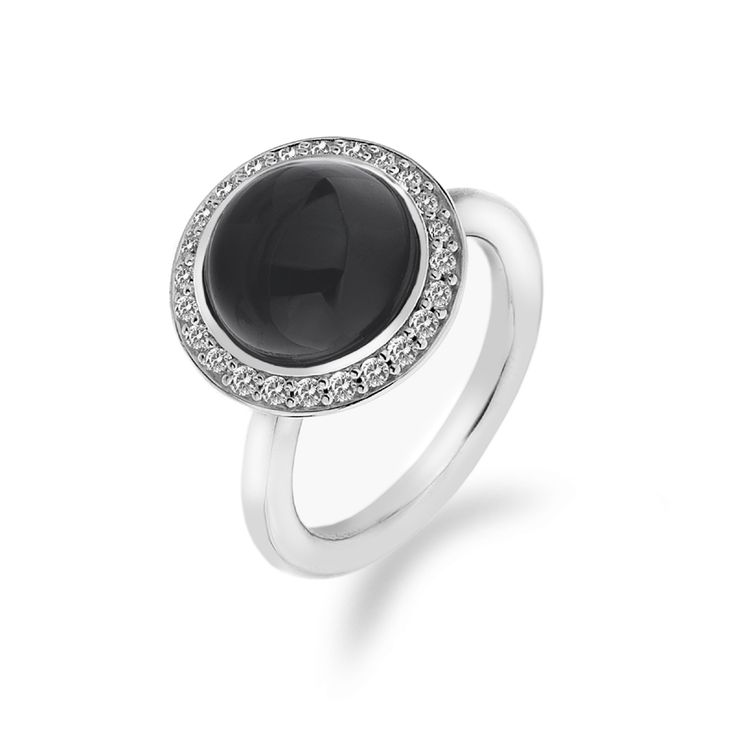 Stříbrný prsten Hot Diamonds Emozioni Laghetto Black