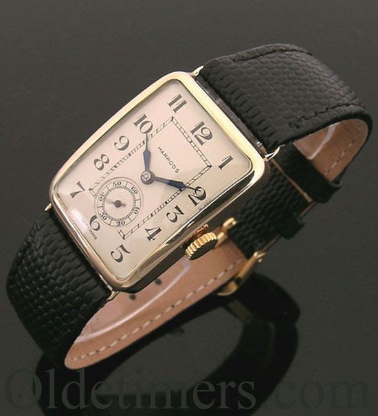 17 best images about watches cartier tag heuer and a 9ct gold rectangular vintage watch retailed by harrods 1927