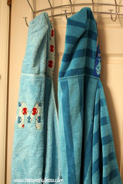 Cute edged Hooded towels- Designs by Sessa