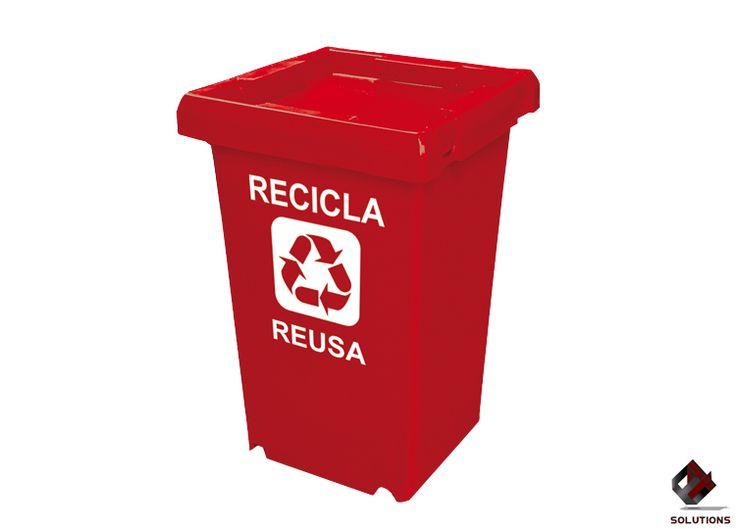 E4-4046 CONTENEDOR DE BASURA RUDO-120  Contenedor diseñado para la recolección de desperdicios orgánicos e inorgánicos. 2 piezas (contenedor y tapa) para deposito o almacenaje de residuos ya sean líquidos o sólidos. Dimensiones: 43.5 cm. x 43.5 cm. x 71.5 cm. Capacidad: 120 Lts. Colores: Amarillo y Rojo.