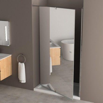 Porte de douche pivotante Minima, 120 à 140 cm