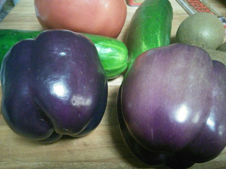Purple bell peppers! Who knew?