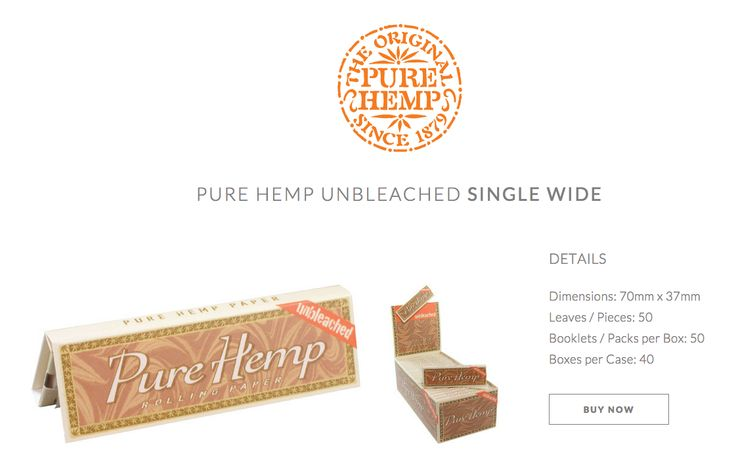 Unbleached Pure Hemp 70mm / Small / Single Wide #PureHemp #Unbleached #Since1879 Available HERE: www.shop.purehemp.com/content/pure-hemp-unbleached-single-wide