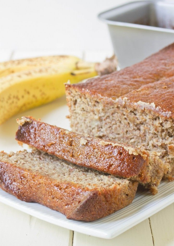 Almond Flour Banana Bread - Whitney's Review:: Great recipe! I added a couple tablespoons of chocolate chips and only made half the recipe. Next time, I'll try subbing Domino light for the brown sugar and adding molasses!