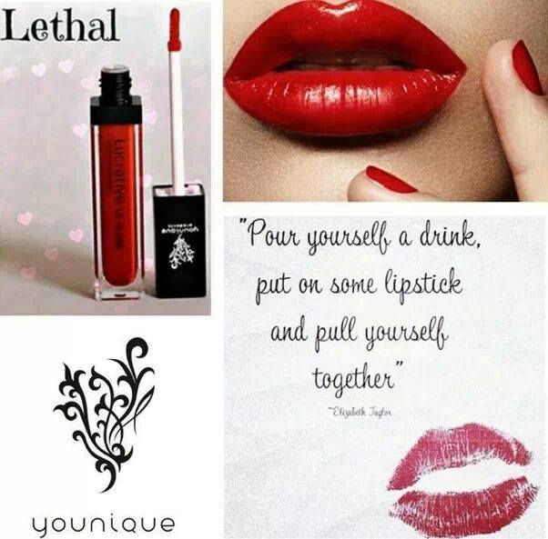 Lucrative Lip Gloss ~ Lethal A rich spread of color, very smooth and highly-pigmented -- bright, bold, or subtle -- collect all ten shades! https://www.youniqueproducts.com/divathome/products/view/US-21803-00#.V74q59SU1lY