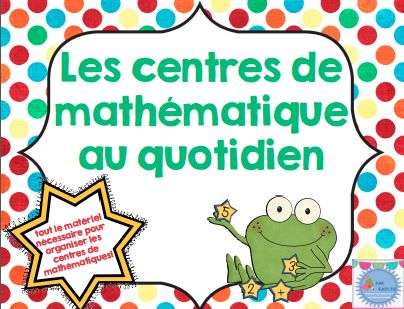 FRENCH Maths daily five pack/ Centres de mathématiques au quotidien