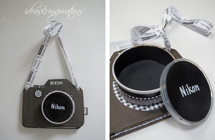 Card Karte Geburtstagskarte scrapbooking camera Pringles Fotoapparat Nikon give away