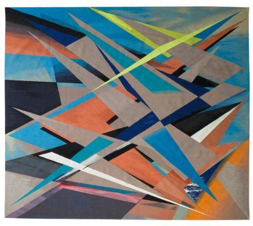"Venezuelan artist Jaime Gili's ""Zelada"" #tapestry in #wool #silk and artificial silk"