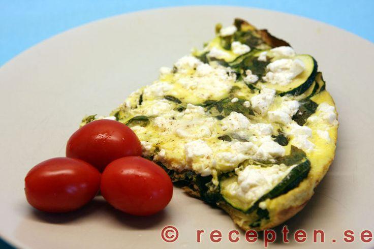 Zucchinikaka - Vegetariskt recept med lågt GI på zucchinikaka. Gott och enkelt. Passar även bra med kassler till om man vill ha kött.