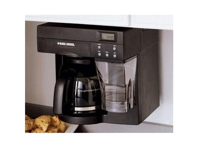 under counter coffee maker ... Black & Decker Under Cabinet Space Maker ODC440B Coffee Maker ...