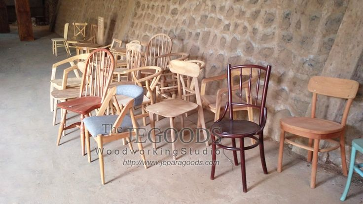 Production and manufacturing of retro mid century chairs by Jepara Goods Woodworking Studio Indonesia.  www.jeparagoods.com