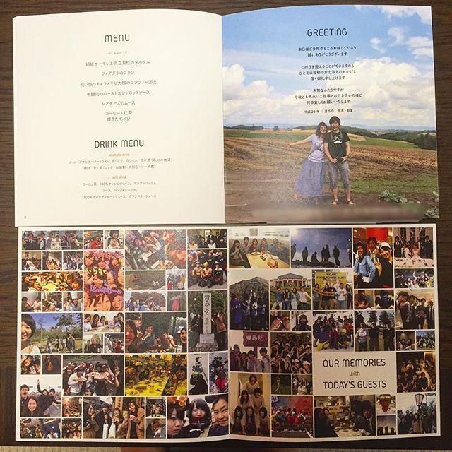 . #プロフィールブック の中身です(・ω・) . #20161105 に無事#卒花 しました…! igを開くと#ちーむ1105 の皆さんの#結婚式 の様子に溢れているので、ほっこりする毎日です(*・ω・*)♡ 時系列で#結婚式レポ したいのですが、まずは前保留にしていた、プロフィールブックの中身から◎ . 全12ページ、 2ページ目…ご挨拶と新居の紹介、 3ページ目…メニューとドリンクメニュー 4.5ページ目…ゲストとの写真 という感じです(・ω・) . #卒花嫁 #卒花 #結婚式レポ #結婚式 #ちーむ1105 #20161105 #結婚式diy #プレ花嫁diy #花嫁diy #結婚式準備diy #北陸花嫁 #marry #marry花嫁 #ウェディングニュース #ウェディングレポ #ウェディングレポート #プレ花嫁 #2016秋婚 #卒花レポ