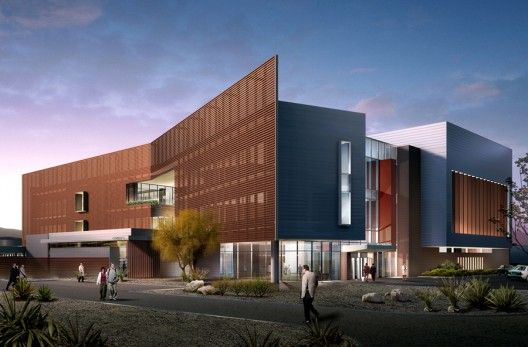 Cannon Design shared with us their latestmental health center for Pima County. The project creates a