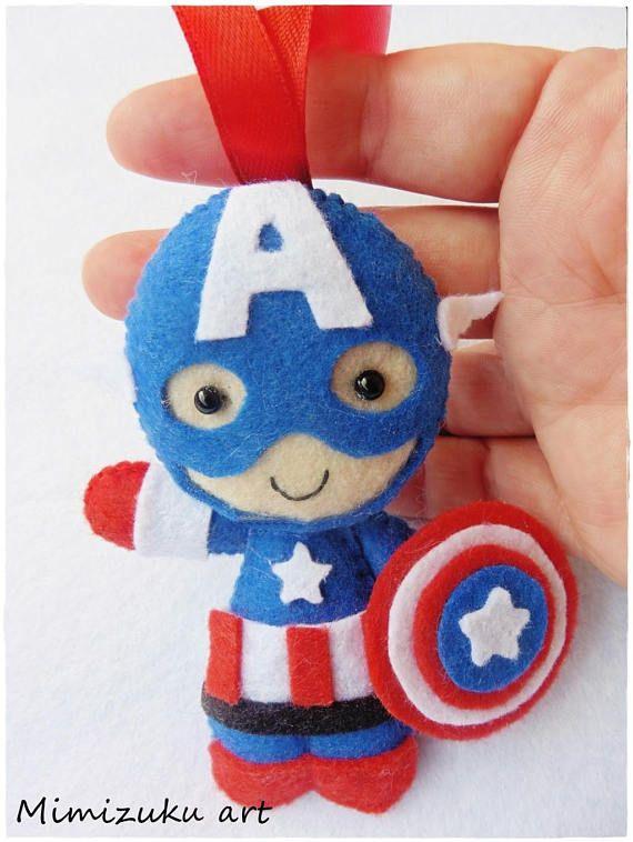 Christmas ornaments superheroes los vengadores felt The
