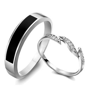 Diamond promise rings for couples - $39