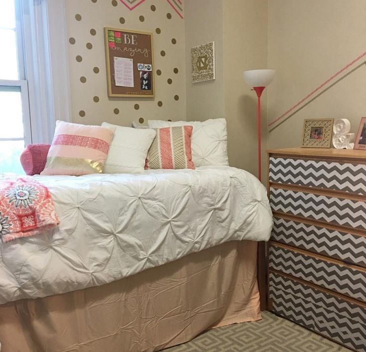UNC Chapel Hill Dorm In McIver Hall Pink And Gold Theme Washi Tape Easy To  Remove Part 45