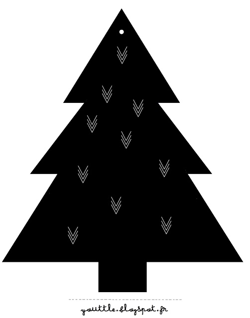 christmas tree  black and white | Xmas decoration . Weihnachtsdekoration . décoration noël | @ youttle blogspot |