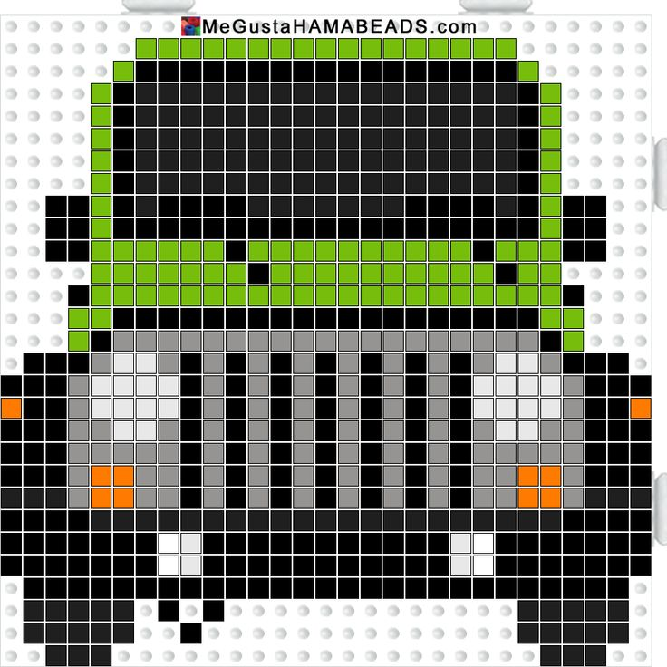Jeep Wrangle Hama perler beads pattern - MeGustaHAMABEADS