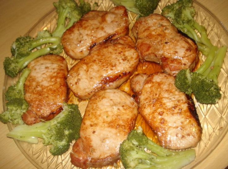 When in a hurry this recipe will have you out of the kitchen fast.These grilled or broiled Boneless Center Cut Pork Lion Chops are quick and delicious. I marinate them in Kikkoman Teriyaki marinade and minced garlic for a few hours and then grill or broil. They come out juicy and delicious. My family loves them. Add a quick salad and vegetable and you are done. Enjoy